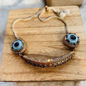Evil Eye Sapphire topaz Bracelet